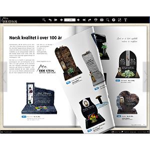 Eide Stein Katalog som Flip Book